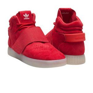 Men Red Adidas High Top Shoes on Poshmark